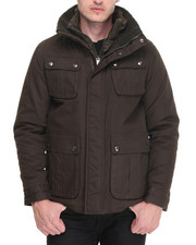 Steve Madden - Waxed Hunter Jacket w/ zip out quilted Bib