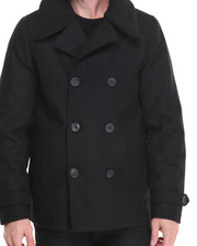 Outerwear - Wool Peacoat w/ Sherpa Collar (Removable)