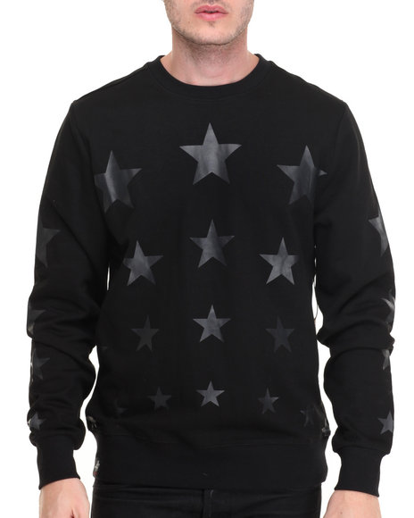 Winchester - Men Black Star Printed Sweatshirt