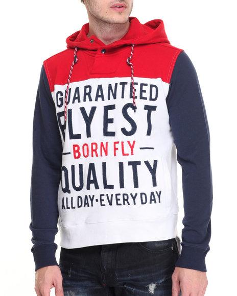 Born Fly White Hoodies