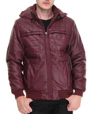 Men - Barrier Structured Lined Faux Leather Jacket