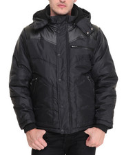 Men - Geo Neo Sherpa - Lined Coated Nylon Bubble Coat
