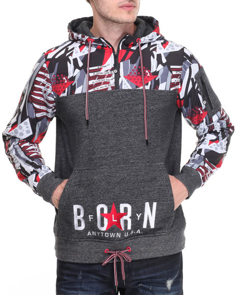 Born Fly - Men Black Feller Hoodie