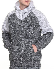 Men - Splatter - Print Zip - Up Hoodie