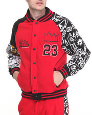 Basic Essentials - Graffiti - Themed Varsity Jacket