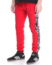 Basic Essentials - Graffiti - Themed Fleece Joggers