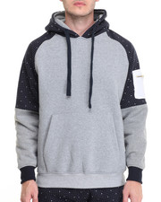 Basic Essentials - Dot - Print Color - Block Zip - Up Hoodie