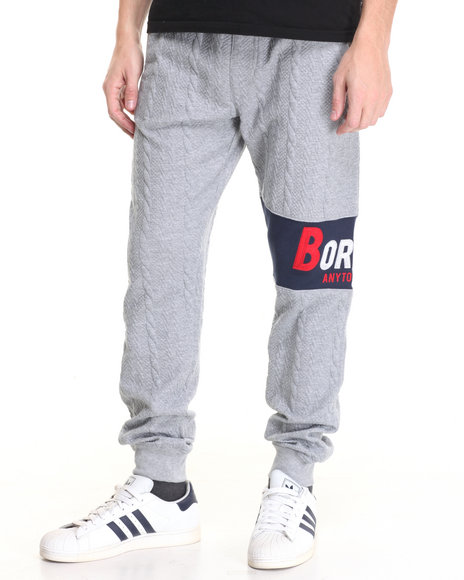 Born Fly Men Baker Joggers Grey X-Large