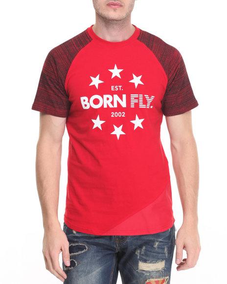 Born Fly - Men Red Hartnett Tee - $32.99