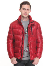 Men - Slick Puffer Coat
