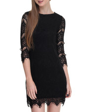 Women - Allover Lace 3/4 Sleeve Dress