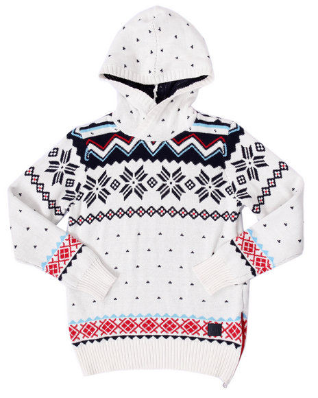 Parish - Boys White Arktik Hoody Sweaters (8-20)