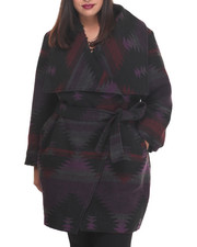 Women - Tribal Heavy Wrap Coat (PLUS)