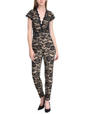 Women - Lace Overlay Jumpsuit
