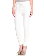 Women - Drawstring Waist Cotton Stretch Twill Jogger