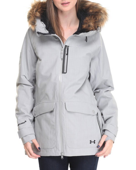Under Armour - Women Grey Ua Coldgear Inffrared Vailer Jacket