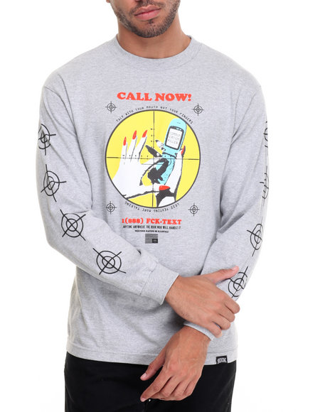 Rook - Men Grey Communication L/S T-Shirt - $22.99
