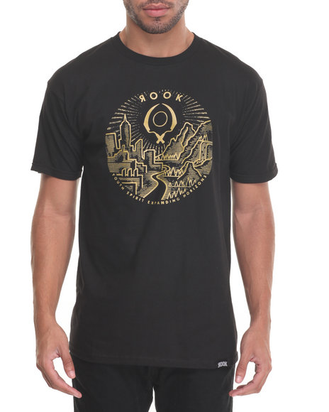 Rook - Men Black Horizons T-Shirt - $19.99