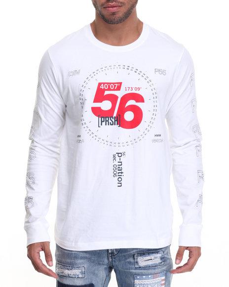 Parish - Men White Graphic L/S T-Shirt - $27.99