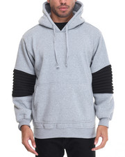 Basic Essentials - Ribbed Side - Zip Fleece Hoodie