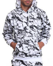 Basic Essentials - Marble Print Fleece Hoodie