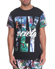 Shirts - Graffati Print T-Shirt