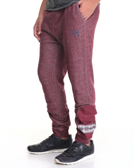 Parish - Men Red Snowflake Sweatpant