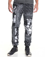 Basic Essentials - Bandana / Tie - Dye Fleece Joggers
