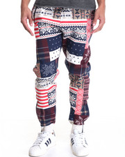 Jeans & Pants - Patchwork Sweatpant