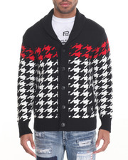 Sweatshirts & Sweaters - Houndstooth Cardigan