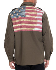Men - Flag Applique L/S Button-Down