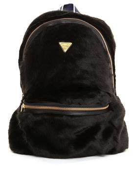 Accessories - RICH TAPE FAUX FUR BACKPACK