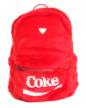-FEATURES- - Coke Candy Faux Fur Backpack