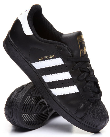 Adidas Boys Superstar J Sneakers (3.57) Black 4.5 Youth
