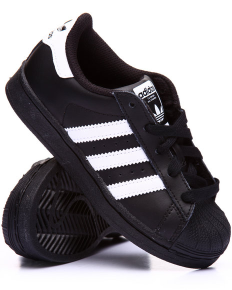 Adidas Boys Superstar C Sneakers (113) Black 13 Youth