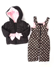 Snowsuits - 2 PC POLKA DOT SNOWSUIT (INFANT)