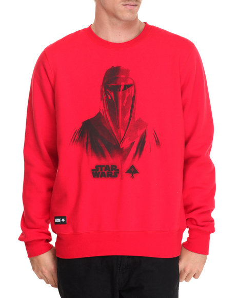 Lrg Men Face Of War Sweatshirt Red Medium