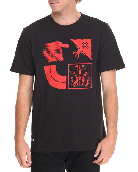 Lrg Men Star Wars Tree Stamp T-Shirt Black Large