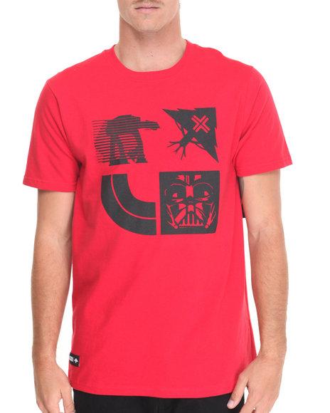Lrg Men Star Wars Tree Stamp T-Shirt Red X-Large