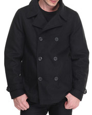 Men - Wool Peacoat w/ Sherpa Collar (Removable)