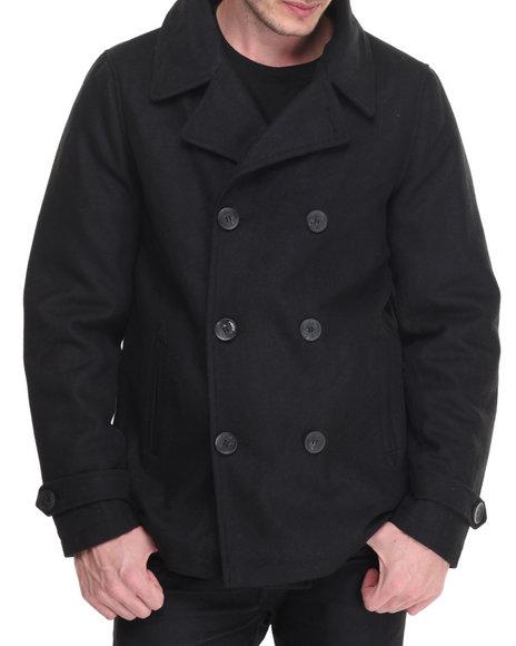 Steve Madden Black Heavy Coats