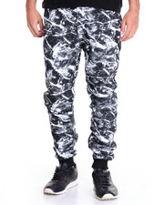 Basic Essentials - Marble - Print Fleece Joggers