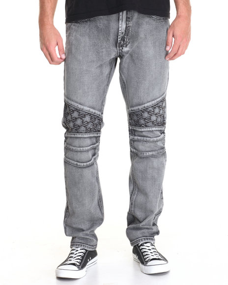 Parish - Men Grey Houndstooth Jean