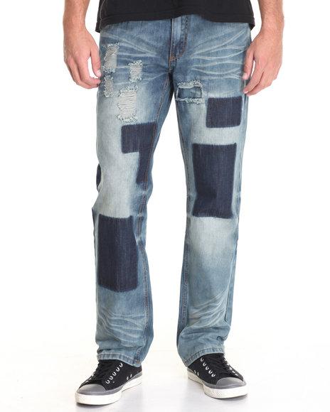 Flysociety - Men Light Wash Fly Society Denim Jeans