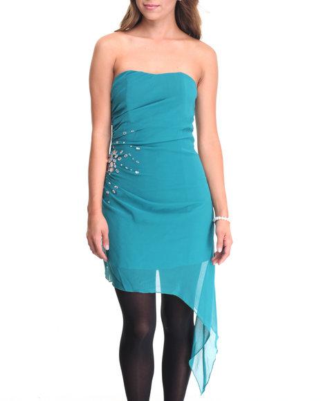 Fashion Lab Women Deena Tube Top Dress Green Large