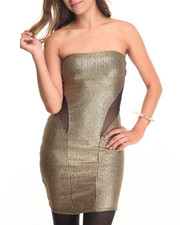 Fashion Lab - Gold Empress Tube Top Dress