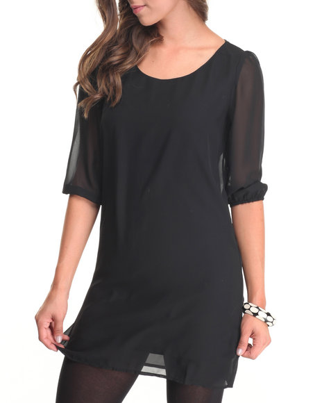 Fashion Lab - Women Black Rach Basic A Line Dress