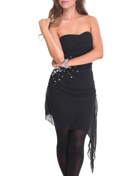 Fashion Lab - Women Black Nora Tube Top Dress