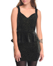 Dresses - Sequoia Sequin Peplum Party Dress