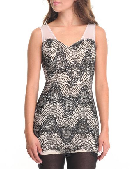 Fashion Lab - Women Black Draya Bodycon Lace Detail Dress - $8.99